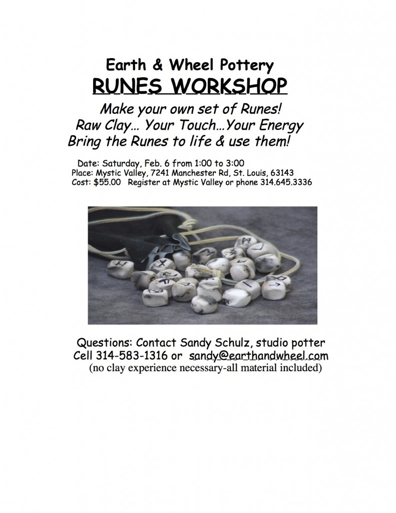 Runes Workshop Flyer